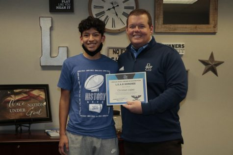 Junior Awarded LEAD Student of the Month for December