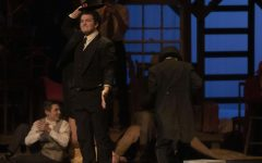 Senior Kaleb Cole performs in the fall production of '39 Steps'.