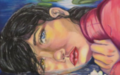 This piece was created by Courtney Gregory in 11th grade titled Lilly Among Lilies and was awarded best drawing.
