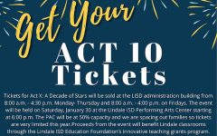 Act 10 is being held this month on January 30th.  Tickets went on sale, and are now available to the public.