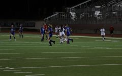 The Varsity girls soccer team plays against Cumberland. They won 8-0.