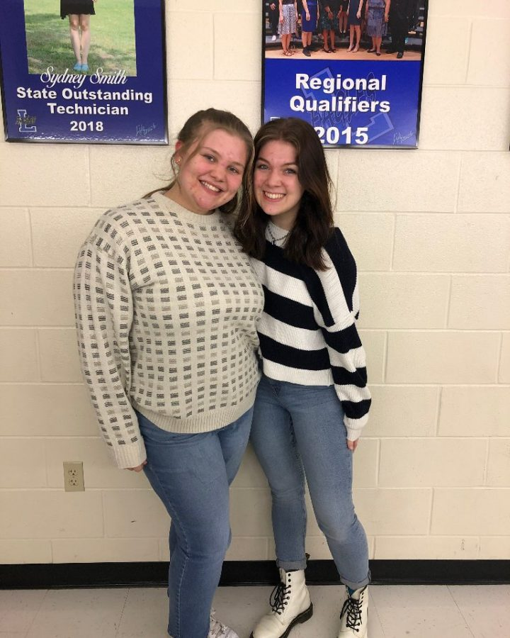 Seniors Cameron Hilliard and Allison Somes qualify to the UIL State Meet. The two qualified to the state meet in Marketing and Hair/Makeup respectively.
