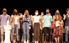 New members recite the NHS pledge and officially swear in.