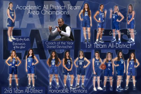 Lady Eagle Basketball Wins District Awards