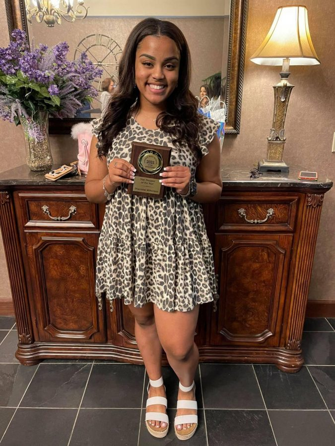 """The entire Star Steppers team voted senior Sharmise Wilkerson as their Star Stepper of the Year.  """"Receiving Star Stepper of the Year was truly honorable for me,"""" Wilkerson said. """"I loved every moment I had on the team and would re-do it all over again if I could. I'm very blessed to have been selected.""""  Photo by Xavier Wilkerson"""