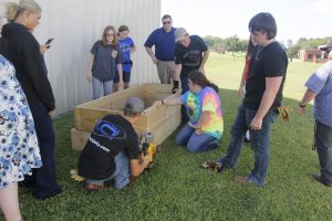 FFA Builds Planter Beds for Lillie Russell Memorial Library