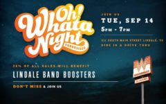 Flyer by Whataburger and Lindale Band Boosters