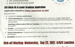 A flyer for the Chick-fil-A leadership academy.