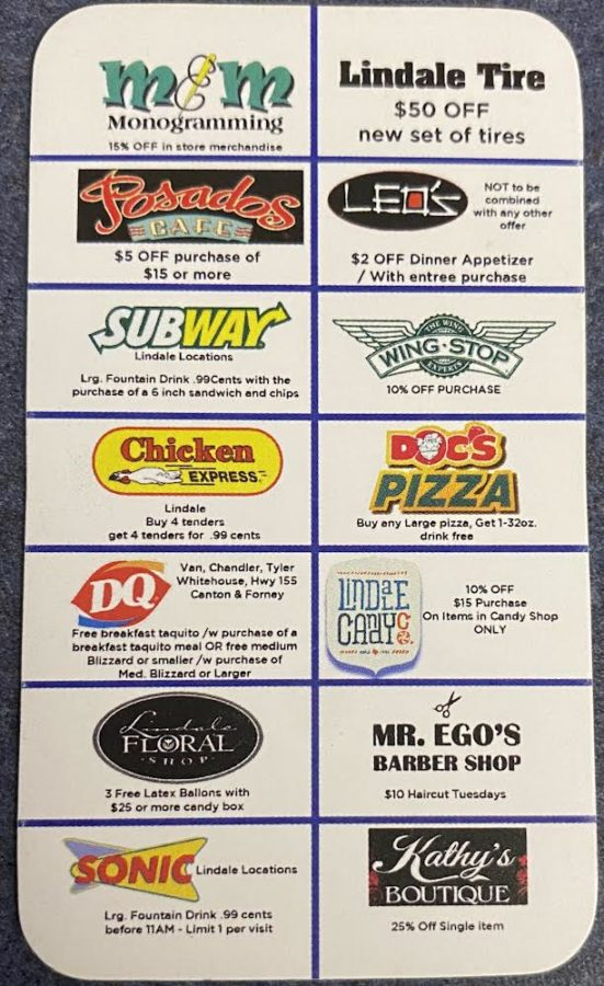Drill Team Sells Discount Cards