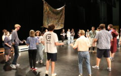 Theater practices for the Alice In Wonderland play. They performed on  Sept. 30, Oct. 1, and Oct. 2.(Photo by Henrique Arantes)